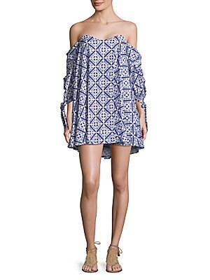Gabriella Geometric-Print Dress