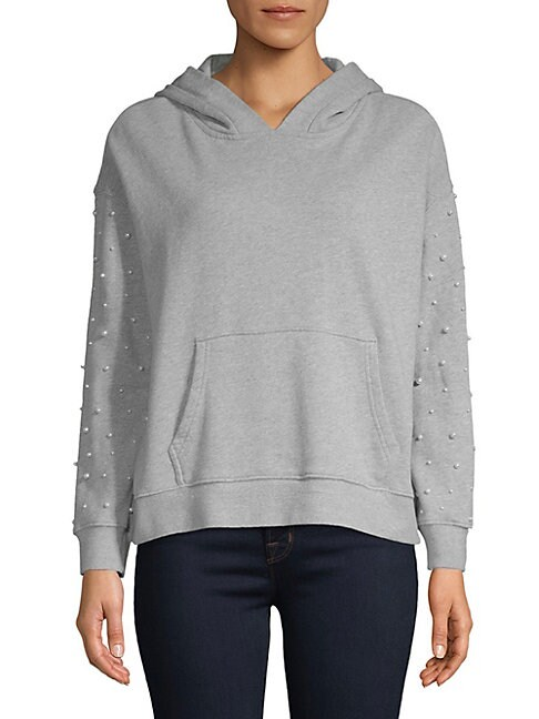 Driftwood Pearl-Embellished Pullover Hoodie