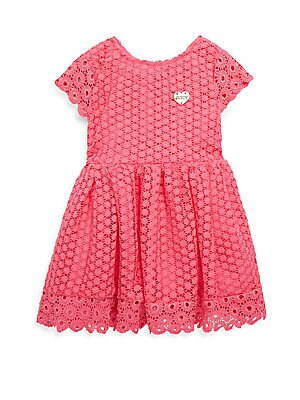 Girl's Flower Lace Ruffle Dress