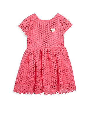 Little Girl's Flower Lace Ruffle Dress