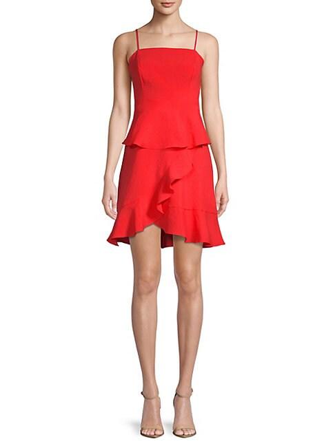 COLLECTIVE CONCEPTS | Spaghetti Strap Ruffle Dress | Goxip