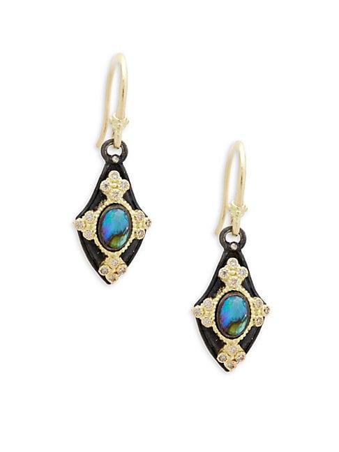Champagne Diamond & Gemstone Kite Earrings