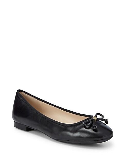 COLE HAAN | Megan Leather Ballet Flats | Goxip
