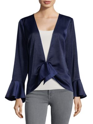 PLENTY BY TRACY REESE Bell-Cuffs Draped Top in Twilight
