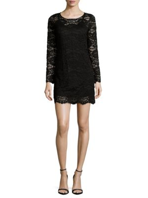 PLENTY BY TRACY REESE Lace Shift Dress in Black