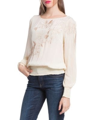 PLENTY BY TRACY REESE Slit Sleeve Blouse in Twilight