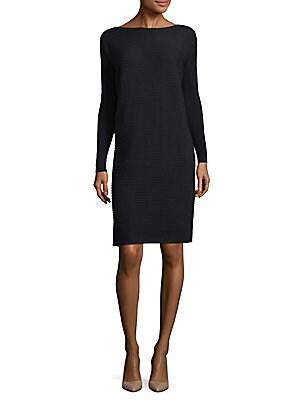 Lafayette 148  Pintuck Link-Stitch Wool Dress