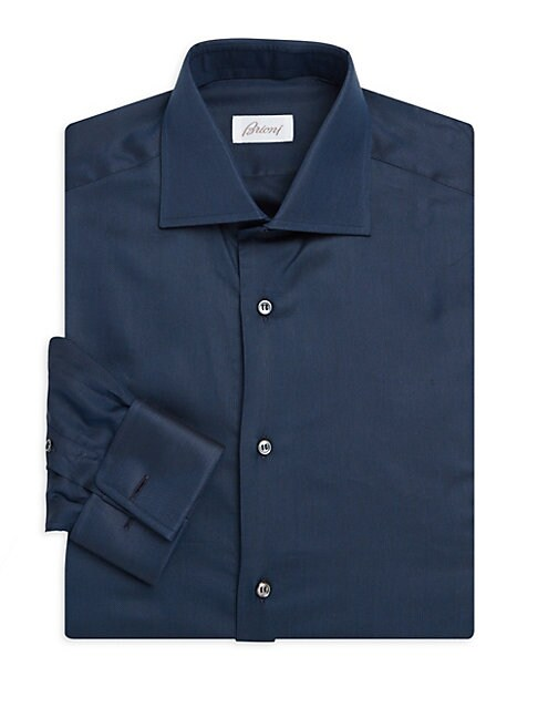 Cotton Silk Dress Shirt