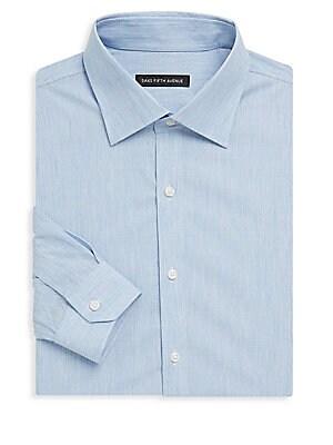 Melange Denim Dress Shirt