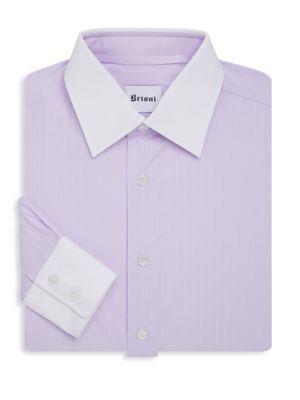 Brioni  Contrast Collar Dress Shirt