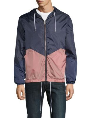 SOVEREIGN CODE Carlton Hooded Jacket in Navy Mauve