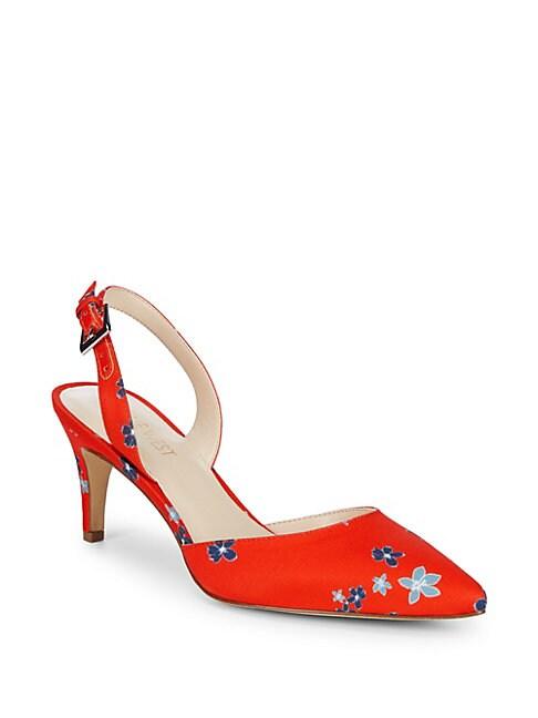 Epiphany Floral Slingback Heels
