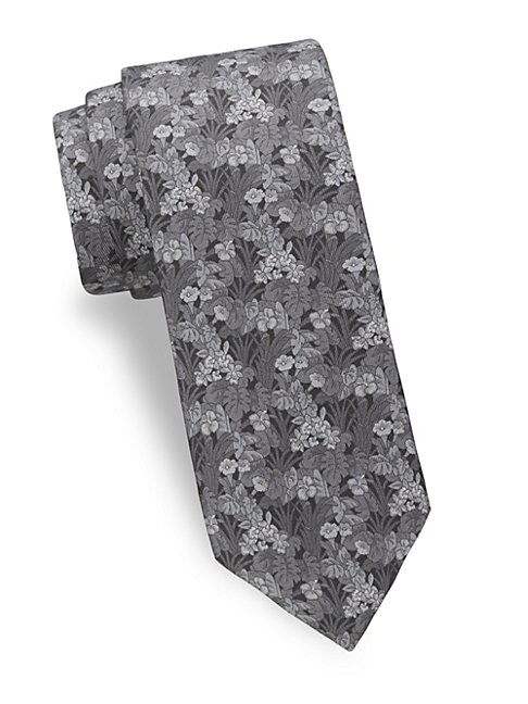 Tropical Flower Silk Tie