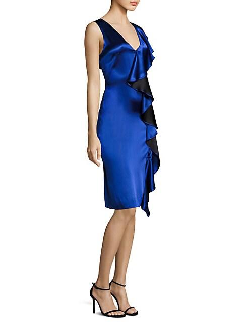 Side Ruffle Velvet Dress