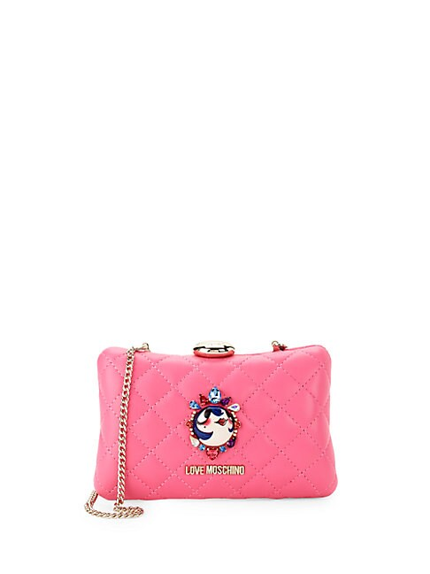 Logo Quilted Convertible Clutch