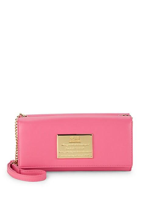 Faux Leather Crossbody Wallet