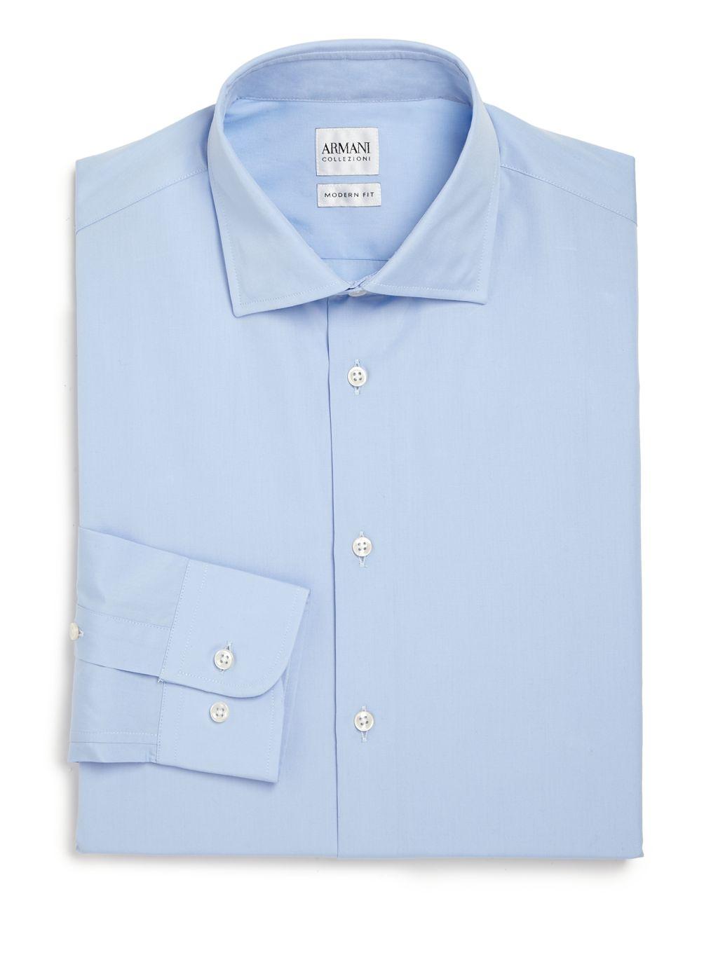 Armani Collezioni Modern-Fit Cotton Dress Shirt