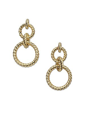 Cable Classics 18K Yellow Gold Doorknocker Earrings