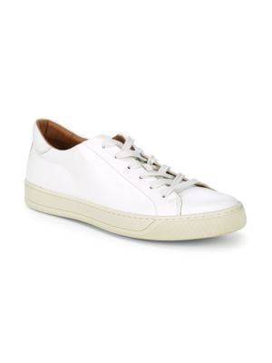 TO BOOT NEW YORK Pace Leather Lace-Up Sneakers in Bianco