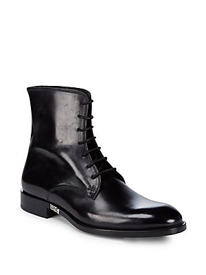Brioni LEATHER ANKLE BOOTS