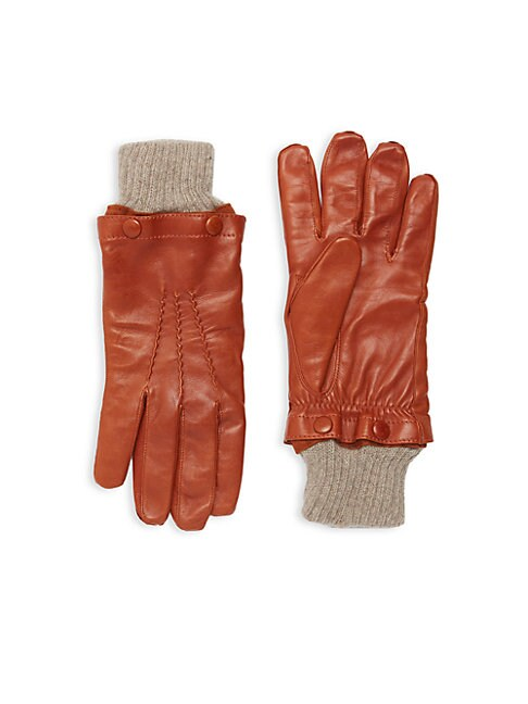 Detachable-Lining Leather Gloves