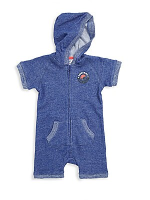 Baby Boy's Cotton Hooded Playsuit