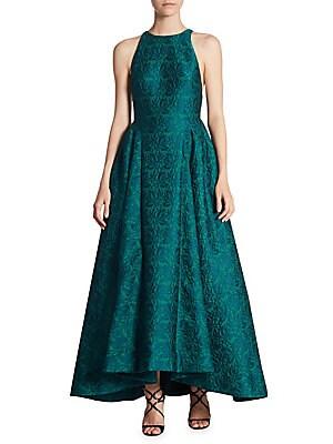 Hi-Lo Jacquard Ball Gown
