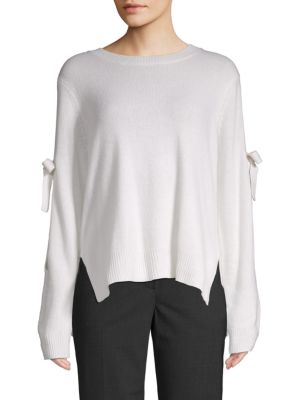Bcbgmaxazria Tie-Sleeve Cold-Shoulder Sweater