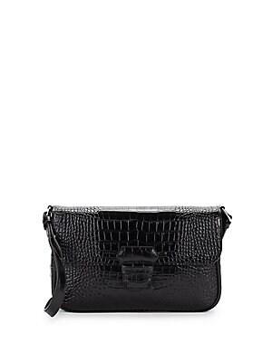 Armani Collezioni - Mini Leather Embossed Crossbody Bag - saksoff5th.com aea4e43f43b6c