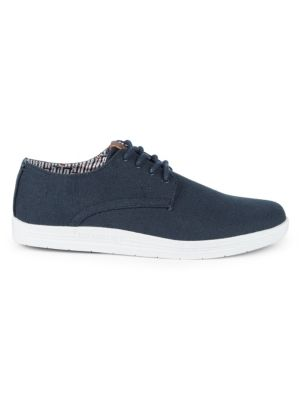 BEN SHERMAN Preston Linen Sneakers in Navy Linen