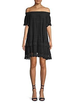 1st sight female crochet lace offtheshoulder shift dress
