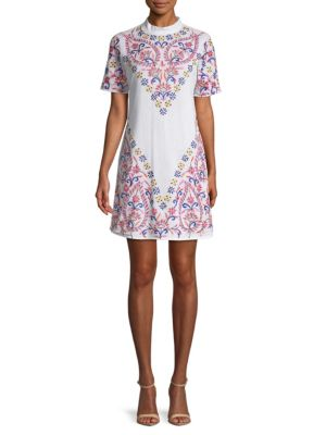 Kas New York Embroidered Tee Dress