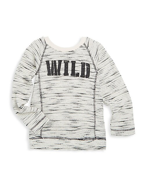 Little Girl's & Girl's Textured Graphic-Print Sweater