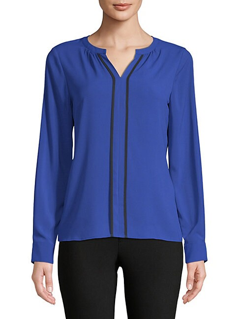 Split Piped Blouse