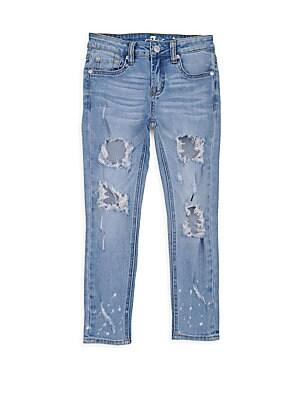 Little Girl's & Girl's Ankle Skinny Rip Jeans