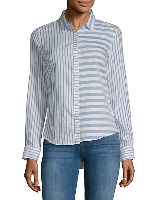 ALEXANDER JORDAN | Mixed Stripe Button-Down Shirt | Goxip