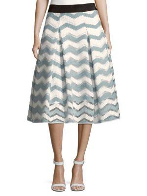 Chevron Inverted Pleat Skirt, Slate Grey