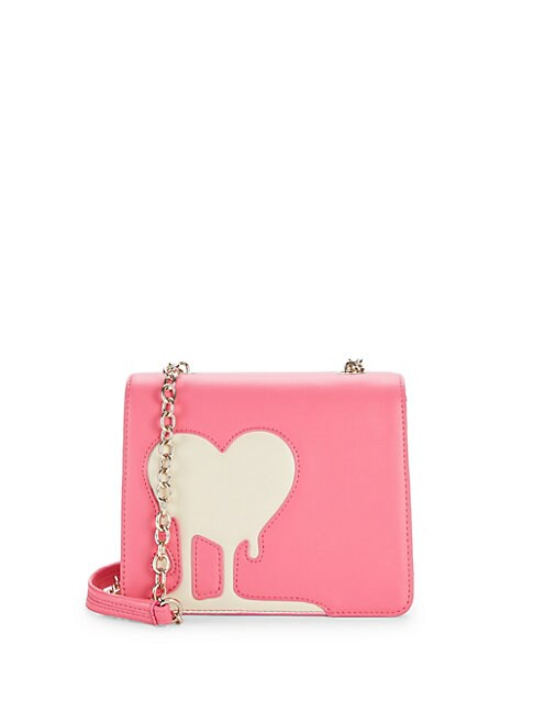 Dripping Heart Faux Leather Crossbody Bag