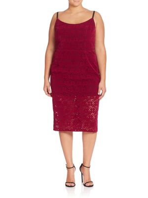 Abs By Allen Schwartz Plus Floral Lace Sheath Dress