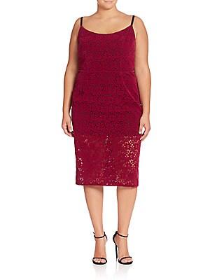 abs plus size female floral lace sheath dress