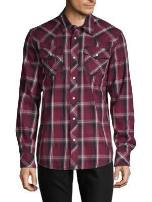 True Religion Western Plaid Button-Down Shirt