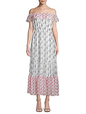 1st sight female printed offtheshoulder maxi dress
