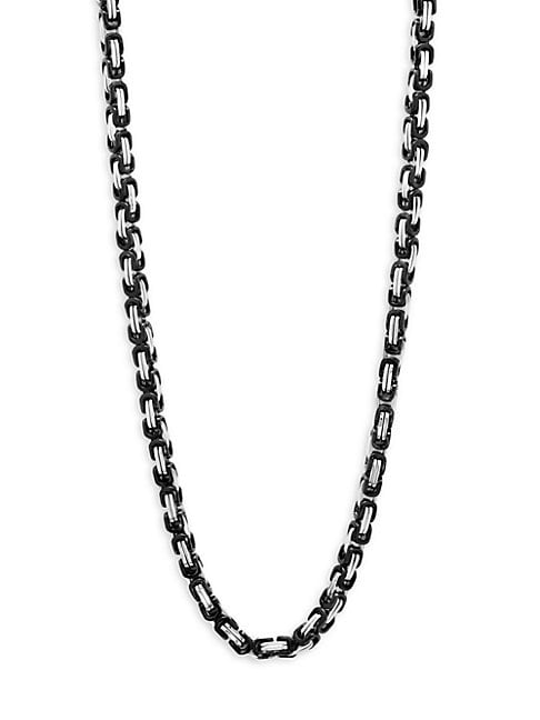 PEREPAIX | Two-Tone Chain Necklace | Goxip