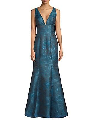 V-Neck Mermaid Gown