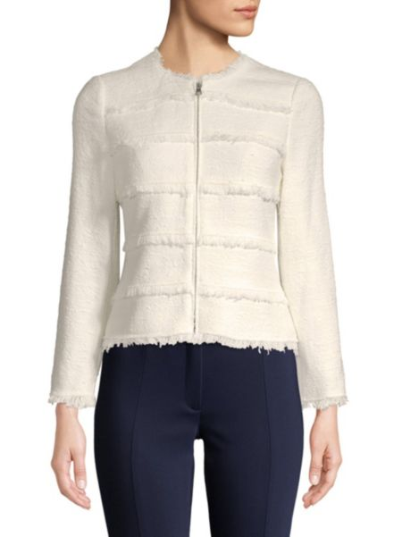 Multi Tweed Zip Jacket by Karl Lagerfeld Paris