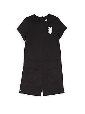 Little Girls  Girls Romper with Pockets