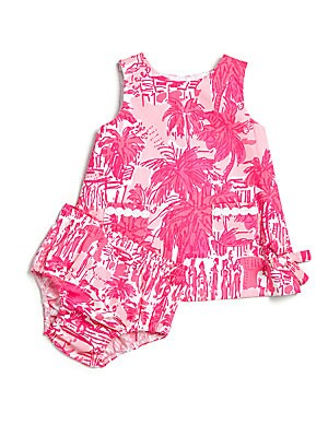 Baby's Paradise Shift Dress & Bloomers Set