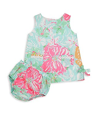 Baby Girl's Two-Piece Lilly Dress & Bloomers Set