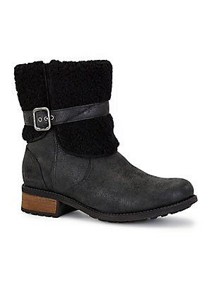 30e65488dff Australia Luxe Collective - Shearling-Lined Leather Booties ...