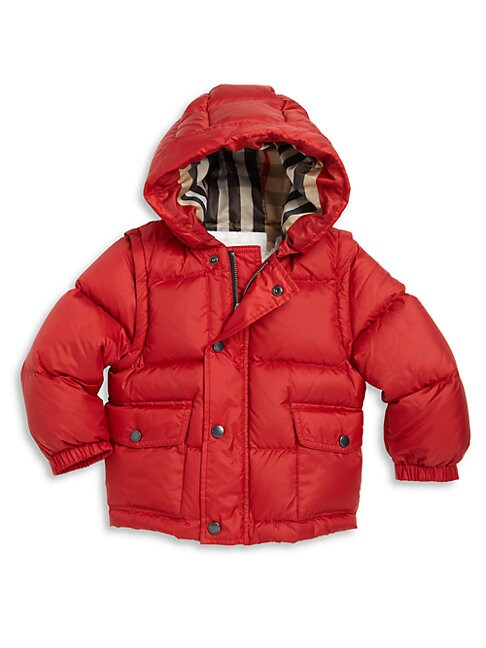 Baby Boy's & Little Boy's Barnie Convertible Down Puffer Jacket